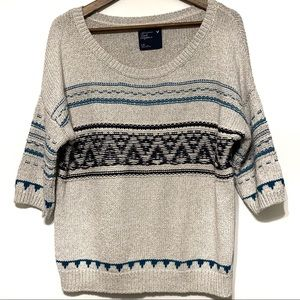 American Eagle 3/4 Sleeve Sweater Size Large